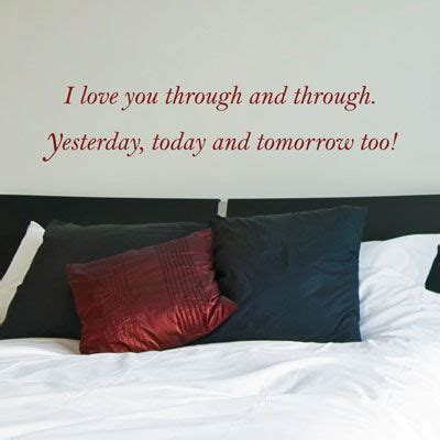 i love you through i love you through through quote wall decals stickers graphics
