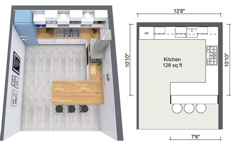2d kitchen design visualize flooring design ideas online roomsketcher blog