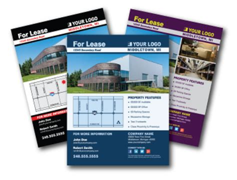 commercial real estate templates commercial real estate flyers