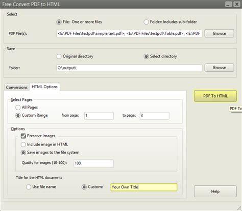 free jpg to pdf converter for windows 7 free convert pdf to html full windows 7 screenshot