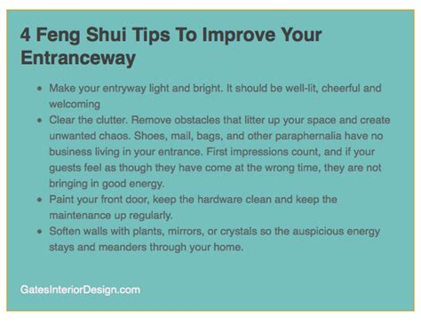 4 feng shui tips to improve your entranceway williamson