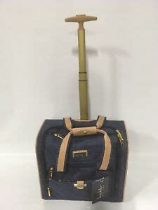 new steve madden seat bag wheeled luggage carry on 240 ebay