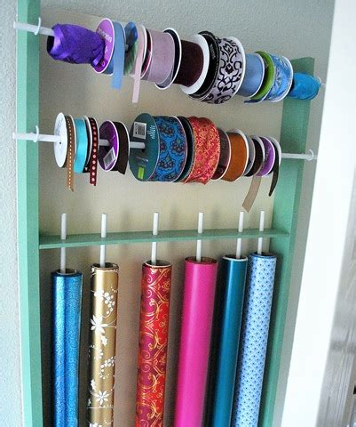 Wrap Kardus diy wrapping paper and ribbon organizer centsational style