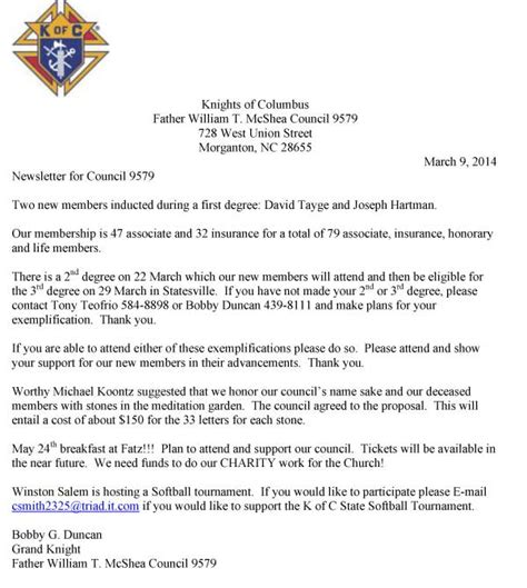 Donation Letter For Masjid March 2014 St Charles Borromeo Catholic Church Curriculum Vitae Sle Pdf Sle Property