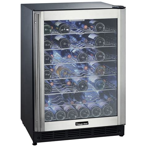 magic chef wine cooler 50 bottle wine cooler magic chef brands