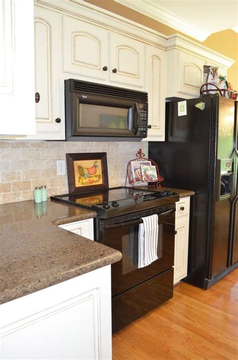 Kitchen Cabinets With Black Appliances Kitchen Tour White Cabinets Cabinets And Cabinet Colors