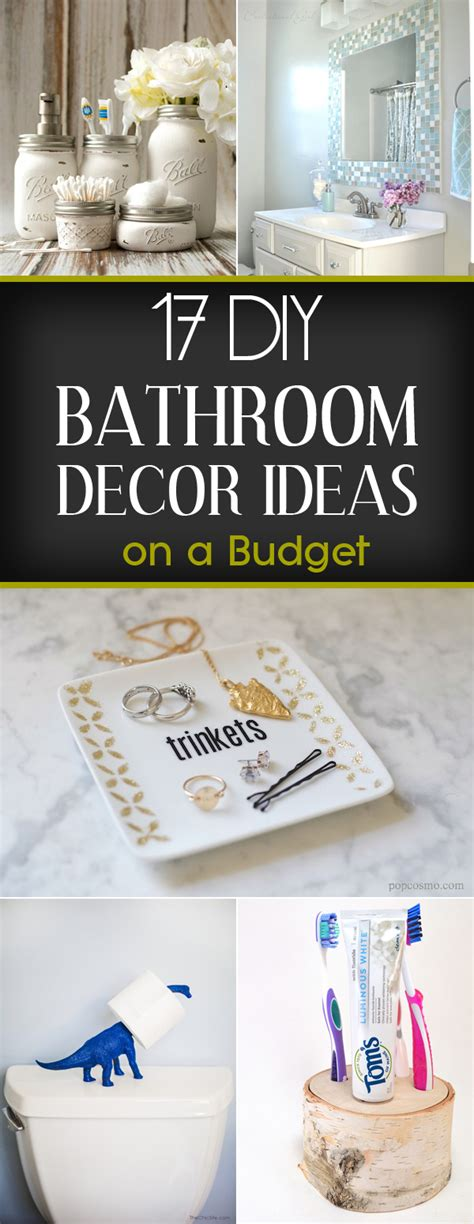 17 diy bathroom decor ideas on a budget