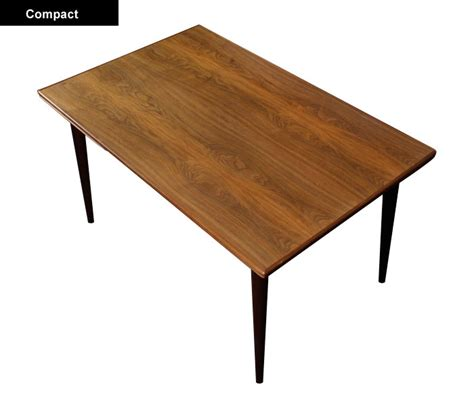 narrow mid century dining table modernism