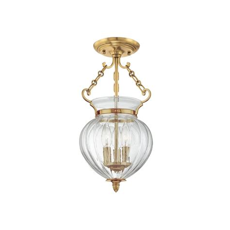 Hudson Valley Light Fixtures Hudson Valley Lighting 780 Agb Aged Brass Three Light Semi Flush Ceiling Fixture From The