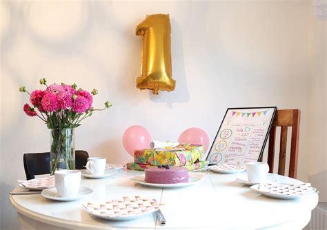 Geburtstag Deko by Wir Feiern 1 Geburtstag Geschenkideen Rezepte Und Deko