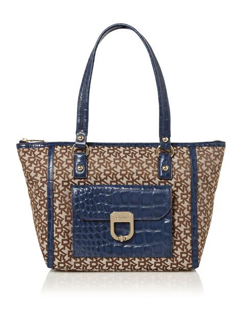 Croco Bag by Dkny Croco Tote Bag In Blue