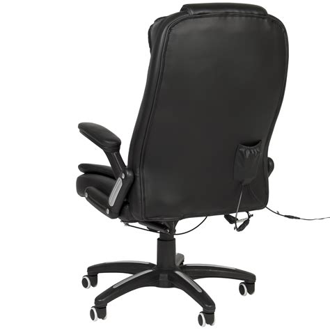 heated desk chair cover bcp executive ergonomic heated vibrating computer office