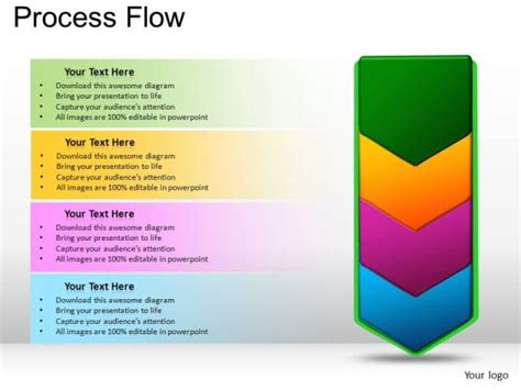 powerpoint templates marketing process flow business