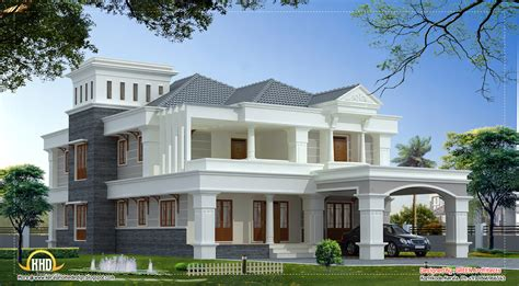 luxury villa house plans 3700 sq ft luxury villa design kerala home design and floor plans