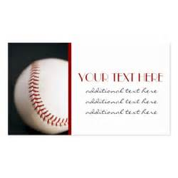 baseball business cards baseball business card templates zazzle