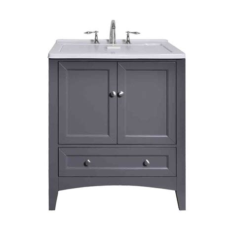 stufurhome 30 5 quot laundry utility sink vanity gray free