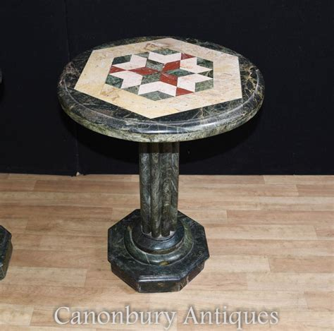 round marble side table italian tuscan marble round side table inlay cocktail tables
