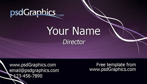 create business card template photoshop purple business card template psdgraphics