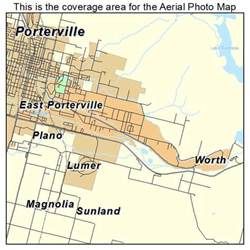 porterville california map aerial photography map of east porterville ca california