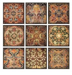 large morrocan style s 9 wood wall decor plaques 12