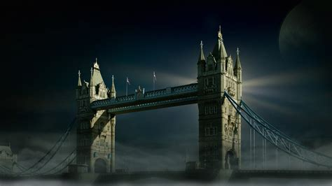 wallpaper tower bridge london night hd world