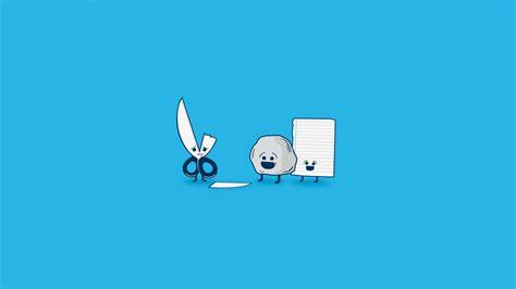 wallpaper blue jokes blue background funny minimalistic paper rocks scissors