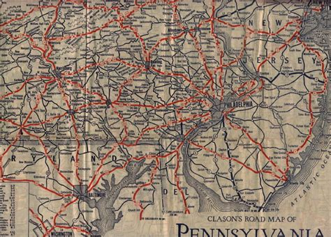 road map of pennsylvania 1930 s road maps of pennsylvania