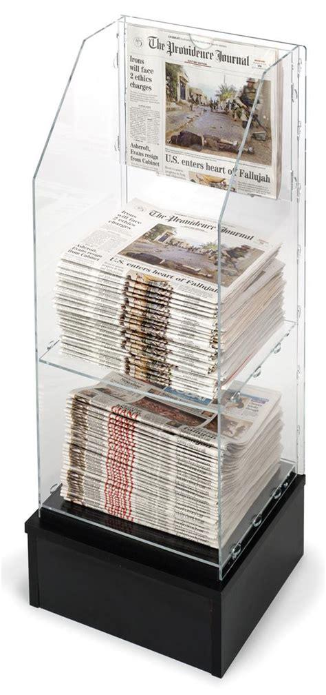 Newspaper Racks For Sale Used by Free Standing Newspaper Rack Acrylic W Black Base