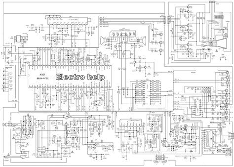 circuit schematic tu2191 ultraslim crt tv circuit diagram