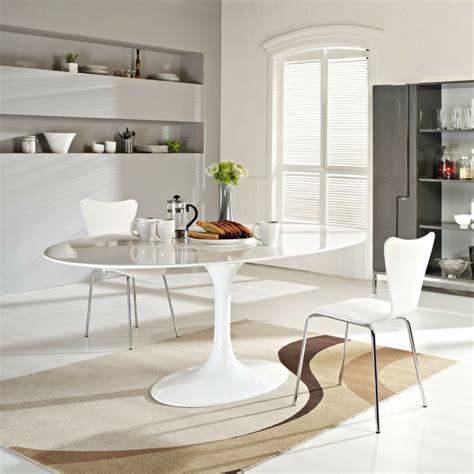 runder speiseraum teppiche passendes esstisch design f 252 r das speisezimmer nach form