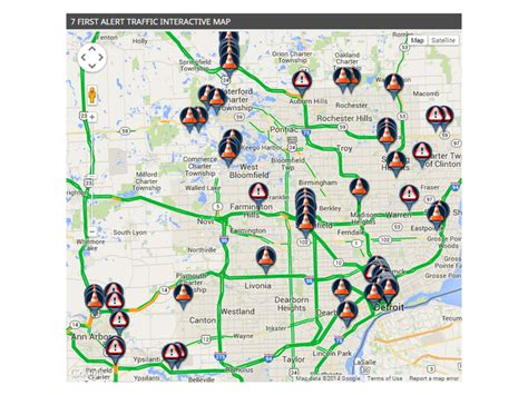 detroit traffic map wxyz detroit news weather sports from 7