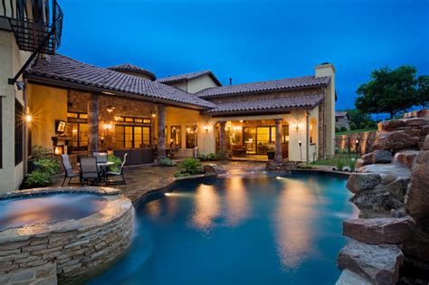 big houses with pools 8210 big view dr mediterranean pool austin by sendero homes