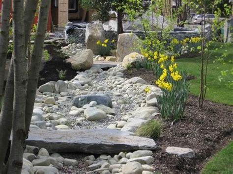backyard dry river bed dry river bed with stone bridge google search drought tolerant landscape southern
