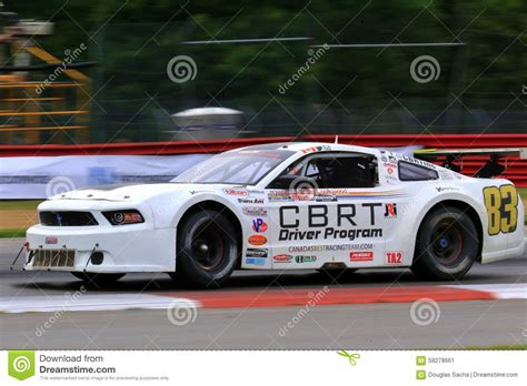 happy house lexington oh pro ford mustang race car on the course editorial image