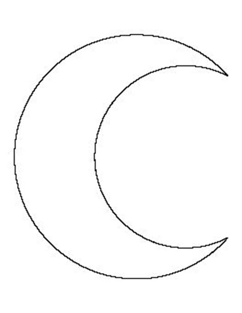 moon template crescent moon pattern templates patterns