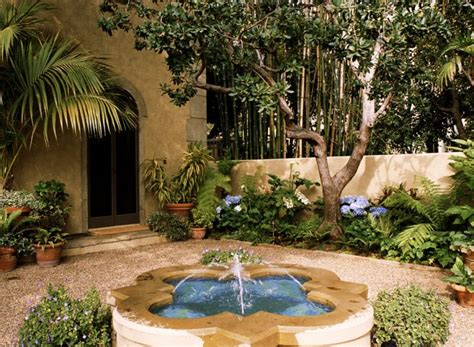 Small Mediterranean Garden Ideas Italian Mediterranean Garden With Small In The Center And Beautiful Surrounding