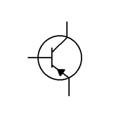 transistor symbol for pnp circuit components