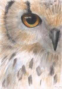 Original watercolor painting 8x10 realistic owl watercolor painting