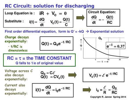ppt kirchhoff s multi loop circuit exles rc circuits charging a capacitor powerpoint
