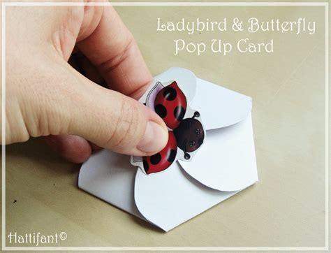 Firework Pop Up Card Template by Ladybird Butterfly Pop Up Card Hattifant