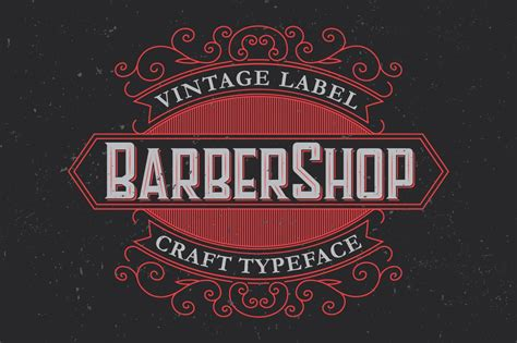 barber label typeface display fonts creative market
