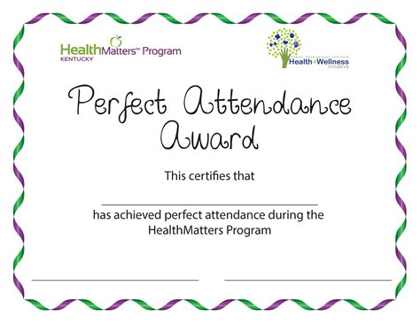 free templates for perfect attendance awards doc 960720 free perfect attendance certificate template
