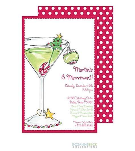 christmas martini christmas cocktail party invitations