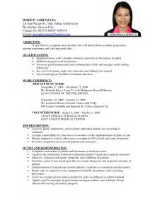 Resume Sles For Nurses In India Staff Resume Format It Resume Cover Letter Sle