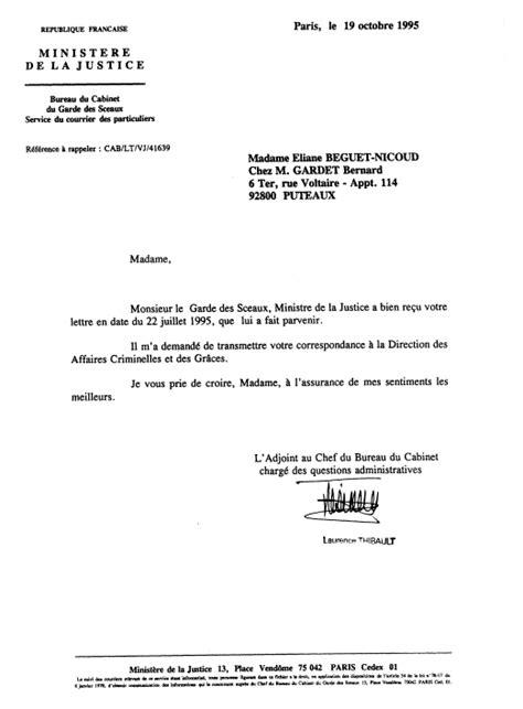 Modele De Lettre Reponse Administrative De La Corruption Au Crime D Etat Nicoud Eliane Reponse De Bernard Leclerc Justice