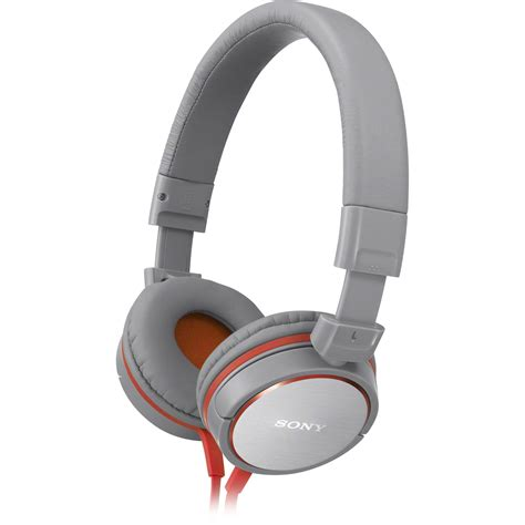 Headphone Sony Mdr Zx600 Sony Mdr Zx600 Headphones Gray Mdrzx600 Gray B H Photo