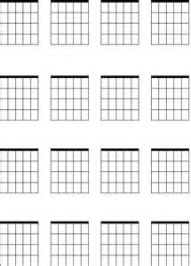 Blank Guitar Sheet by Blank Guitar Chords Sheets New Calendar Template Site