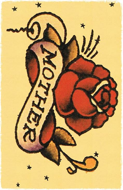 sailor jerry rose tattoo 11 x 17 banner wrapped around sailor jerry