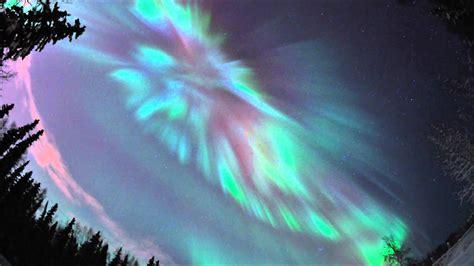 fairbanks alaska northern lights coronal aurora over fairbanks alaska january 22 2012