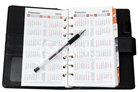 Calendar Notebook Calendar In Notebook With Pen Stock Photos Freeimages